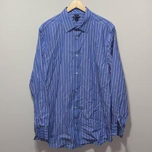 GAP Button Front Shirt No Iron Striped Long Sleeve